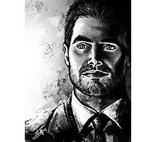 Black and White Oliver Portrait Photographic Print