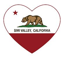 Simi Valley California Love Heart  by NorCal