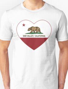 Simi Valley California Love Heart  Unisex T-Shirt