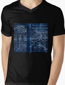 Civil War Maps 1909 War maps and diagrams Inverted Mens V-Neck T-Shirt