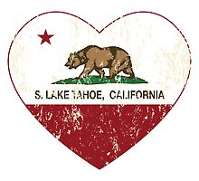 South Lake Tahoe California Love Heart Distressed by NorCal