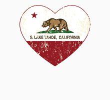 South Lake Tahoe California Love Heart Distressed Unisex T-Shirt