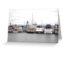 House Boats in Seattle Greeting Card