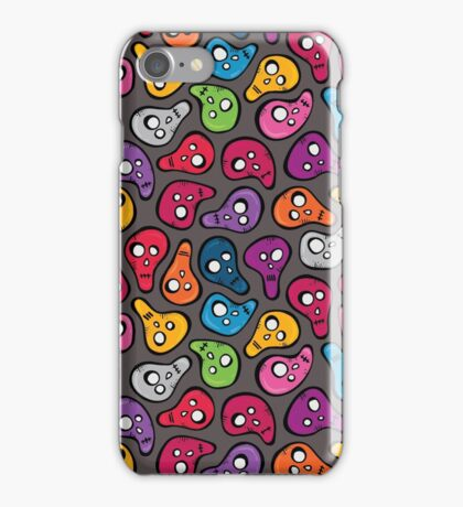 Funny colored skulls iPhone Case/Skin