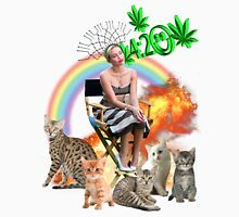 Rainbow Miley 4:20 and Cats on Fire Unisex T-Shirt