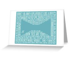 Doctor Who - Tie  Greeting Card