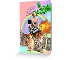 Rainbow Miley 4:20 and Cats on Fire Greeting Card