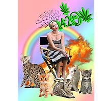 Rainbow Miley 4:20 and Cats on Fire Photographic Print