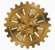 Golden Gears - Steampunk Kids Tee