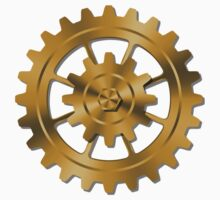Golden Gears - Steampunk One Piece - Short Sleeve