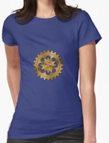 Golden Gears - Steampunk Womens Fitted T-Shirt