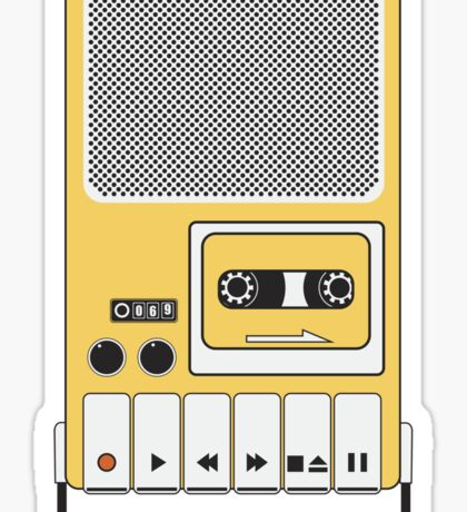 Portable Cassette Tape Recorder Sticker
