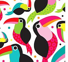 Colorful birds by elorah