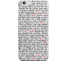from eden lyrics by hozier iPhone Case/Skin