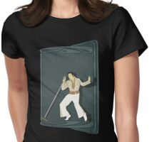 Elvis Presley Impersonator Womens Fitted T-Shirt