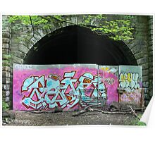Tunnel Entrance Grafitti Poster