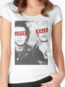 Love Kills - Sid & Nancy Women's Fitted Scoop T-Shirt
