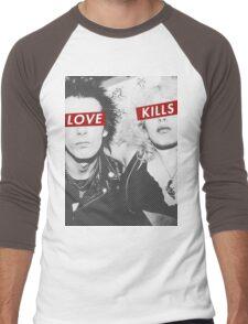 Love Kills - Sid & Nancy Men's Baseball ¾ T-Shirt