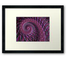 Maroon fractal spirals Framed Print