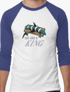 Eat Like a King (Dark) Men's Baseball ¾ T-Shirt