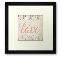 Vintage Love Framed Print