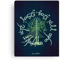 Lord of the Rings Illustration Canvas Print