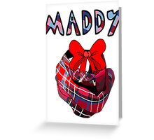 Maddy from On The Radio Greeting Card