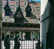 Waiting for tour of Hotel de Dieu Beaune France 198404290021 by Fred Mitchell