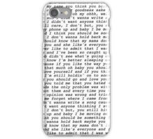 love yourself lyrics justin bieber iPhone Case/Skin