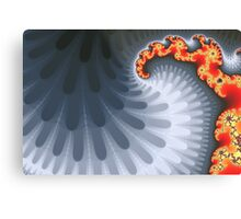 Orange and Gray Mandelbrot Fractal Metal Print