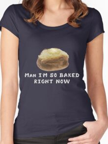 Totally Baked (smoke) Women's Fitted Scoop T-Shirt