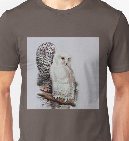 Edward Lear - Snowy Owls Unisex T-Shirt
