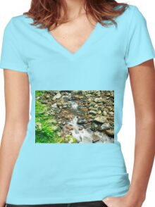 Creek bed at Natural Bridge Women's Fitted V-Neck T-Shirt
