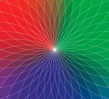 Geometric Design - Color Spectrum Multiply Sticker