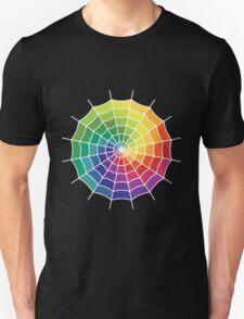 Spider Web - Color Spectrum Shift White T-Shirt