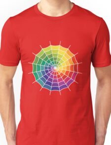 Spider Web - Color Spectrum Shift White Unisex T-Shirt