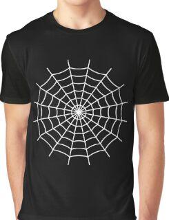 Spider Web - White Graphic T-Shirt