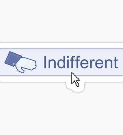 Indifferent Button Sticker