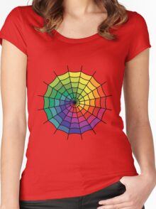 Spider Web - Color Spectrum Shift Women's Fitted Scoop T-Shirt