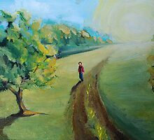Walking to the center of nowhere by Mark Malinowski