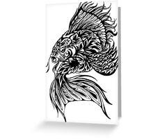 Inked Fish Greeting Card