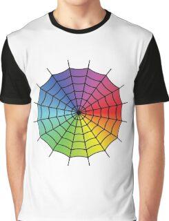 Spider Web - Color Spectrum Graphic T-Shirt