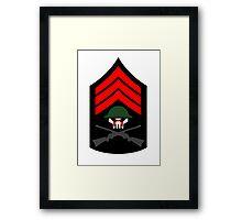 Sgt Hatred Framed Print