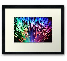 Multi-colored fibre optics Framed Print