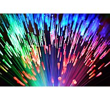 Multi-colored fibre optics Photographic Print