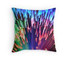 Multi-colored fibre optics Throw Pillow