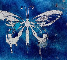 Speckled white butterfly by Sapphira Shadow Artra