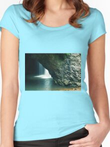 Natural Bridge Waterfall Women's Fitted Scoop T-Shirt