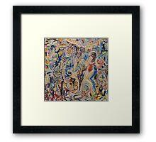 Helen Frankenthaler Knocks Peter Lanyon Off The wall Framed Print