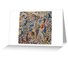 Helen Frankenthaler Knocks Peter Lanyon Off The wall Greeting Card